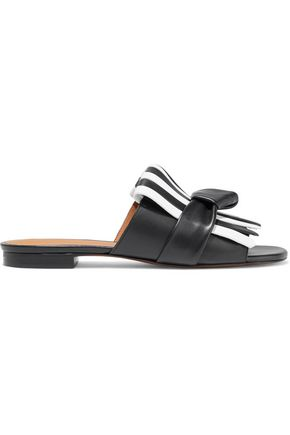 CLERGERIE Angela knotted fringed leather slides