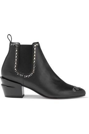 CLERGERIE Alcazar studded leather ankle boots