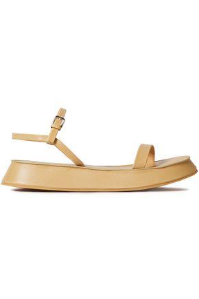 JIL SANDER Leather platform sandals