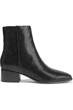 """RAG & BONE حذاء بوت إلى الكاحل """"آسلن"""" من الجلد المحبب اللامع"""
