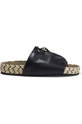 RAG & BONE Eva leather espadrille slides