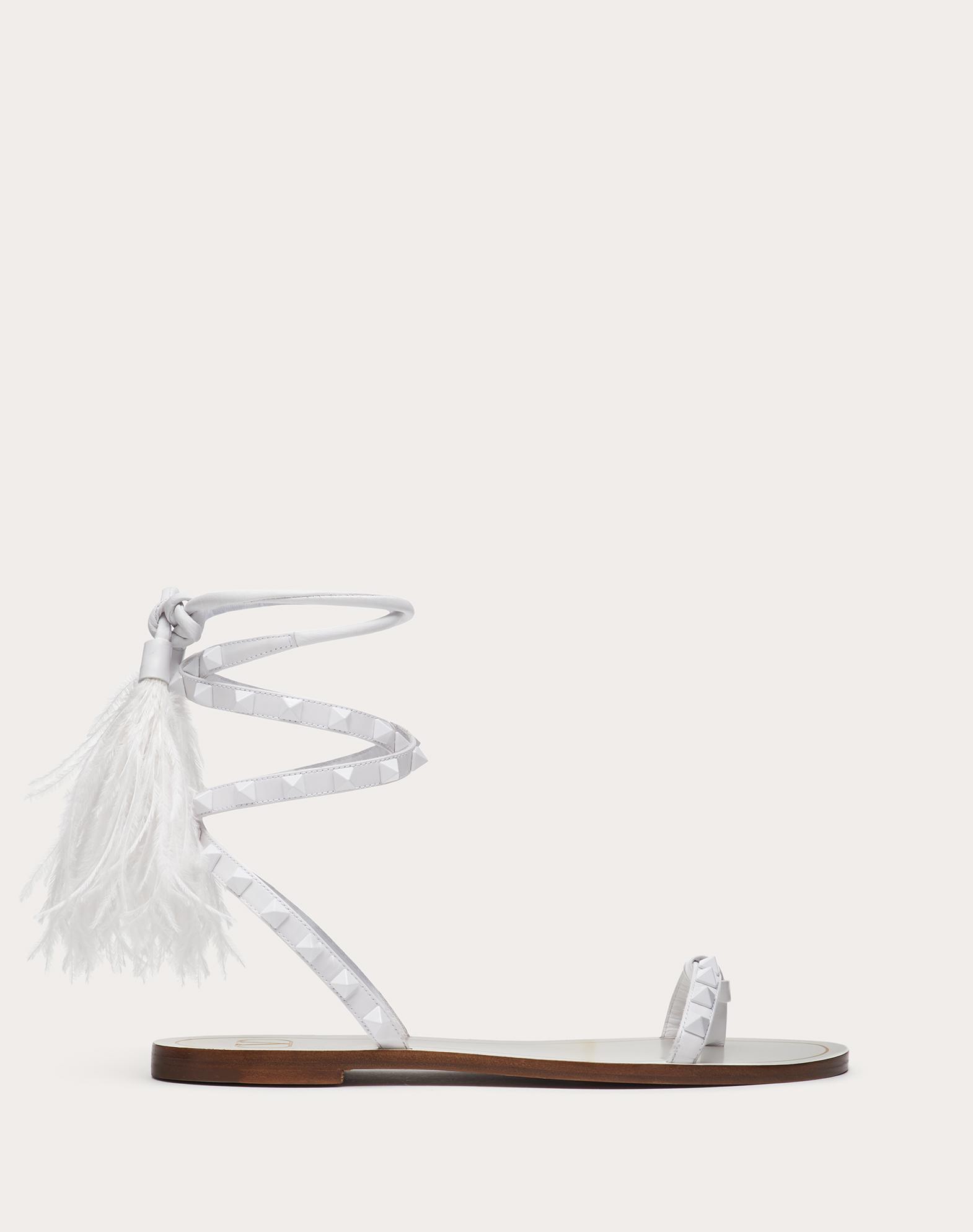 Rockstud Flair calfskin flat flip-flop sandal