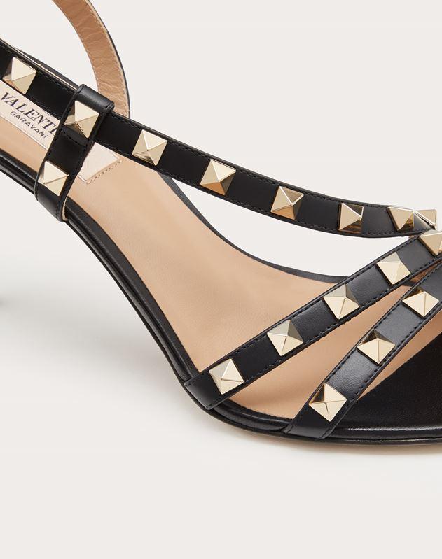 Rockstud Calfskin Sandal 85 mm