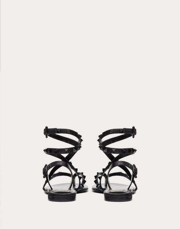 Rockstud Flair nappa leather flat thong sandal