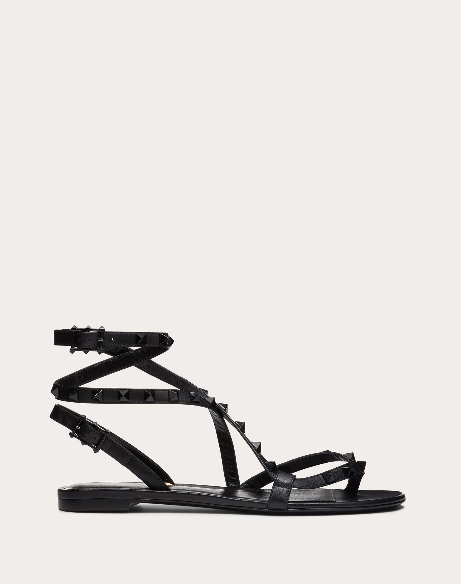 Rockstud Flair nappa leather flat flip-flop sandal