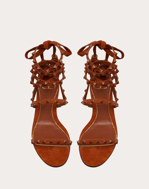 Rockstud Flair suede flat sandal