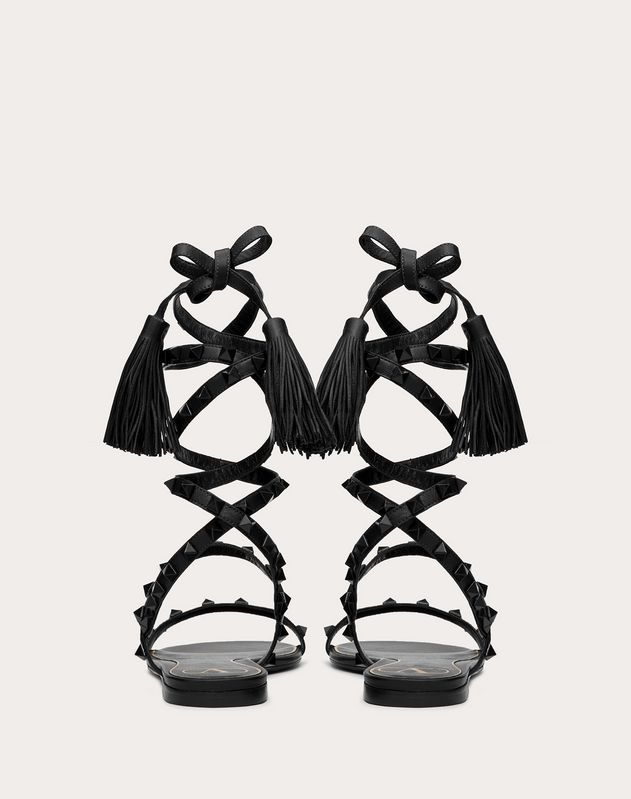 Rockstud Flair nappa leather flat sandal