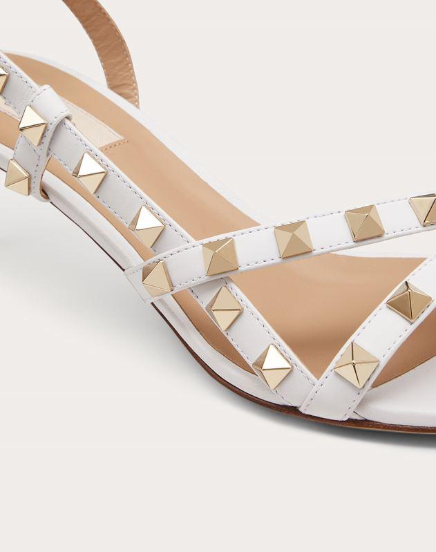 Rockstud Calfskin Sandal 50 mm
