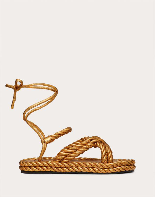 Босоножки The Rope из ламинированной кожи наппа