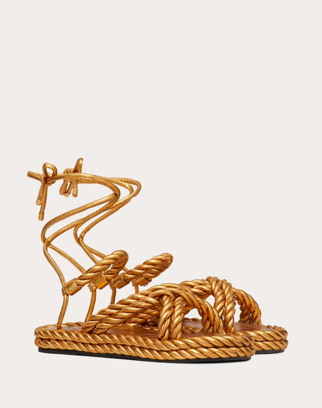 The Rope metallic nappa sandal