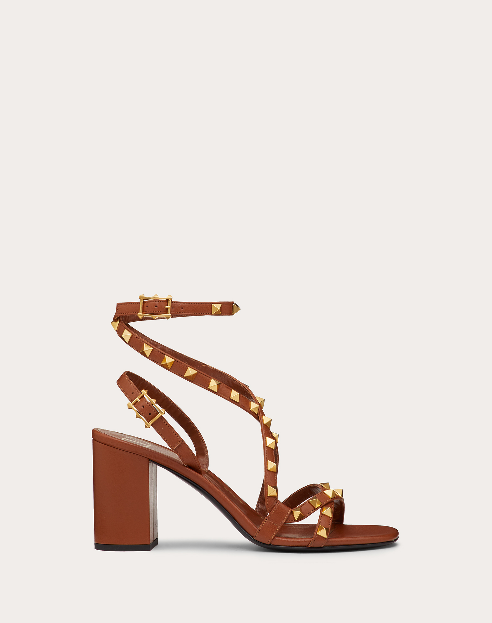Rockstud Flair nappa sandal 80 mm