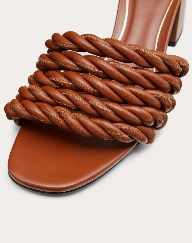 The Rope metallic nappa slide sandal 60 mm
