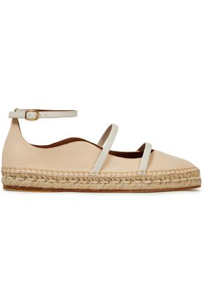 MALONE SOULIERS Selina scalloped leather espadrilles