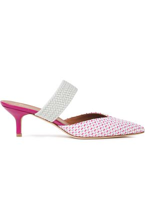 MALONE SOULIERS Maisie 45 braided cord and woven raffia mules
