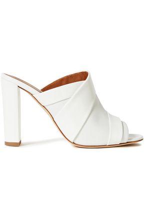 "MALONE SOULIERS حذاء ميول ""كارا"" من الجلد مع أجزاء لامعة"