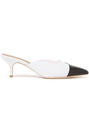 MALONE SOULIERS Blake 45 color-block leather and PVC mules