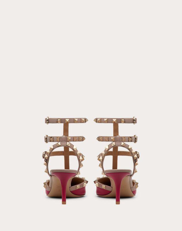 Rockstud Calfskin Ankle Strap Pump 65 mm