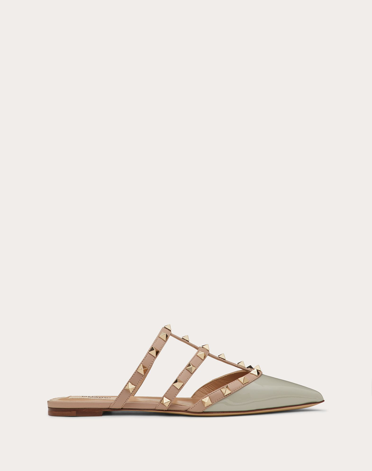 Rockstud Patent Leather Mule