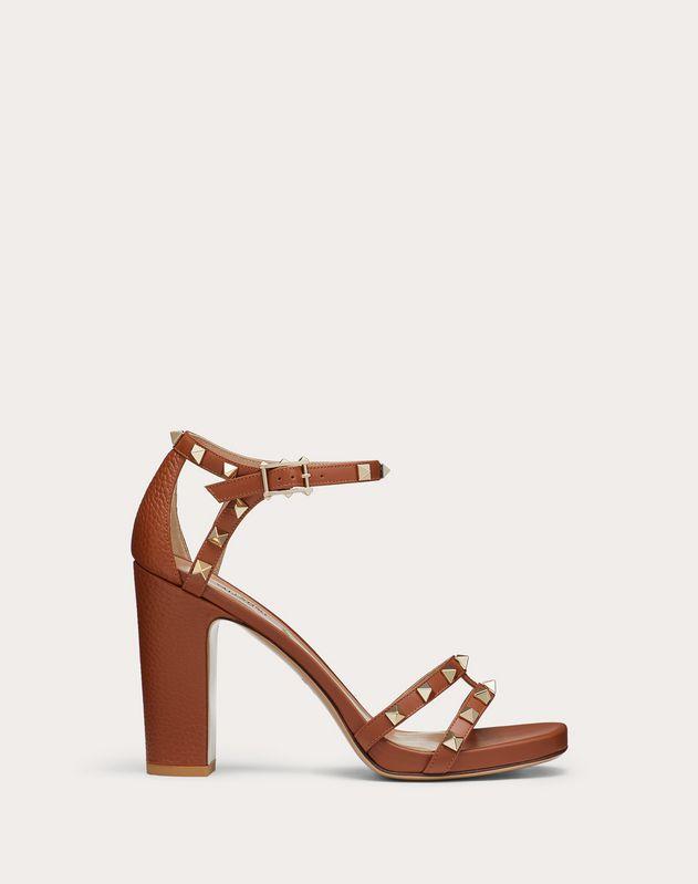 Rockstud elk-print calfskin sandal 100 mm