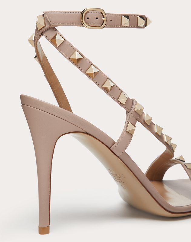 Rockstud Calfskin Sandal 100 mm