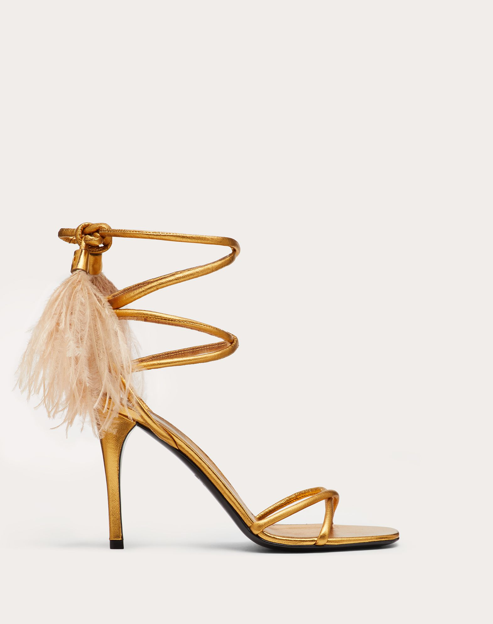 Upflair metallic nappa sandal 100 mm