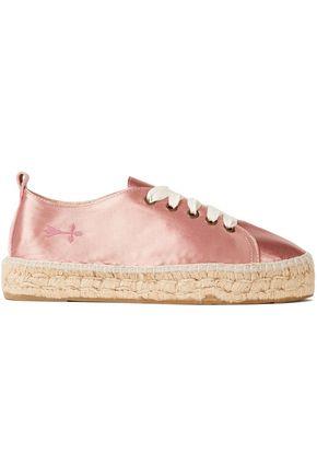 MANEBÍ Satin platform espadrille sneakers