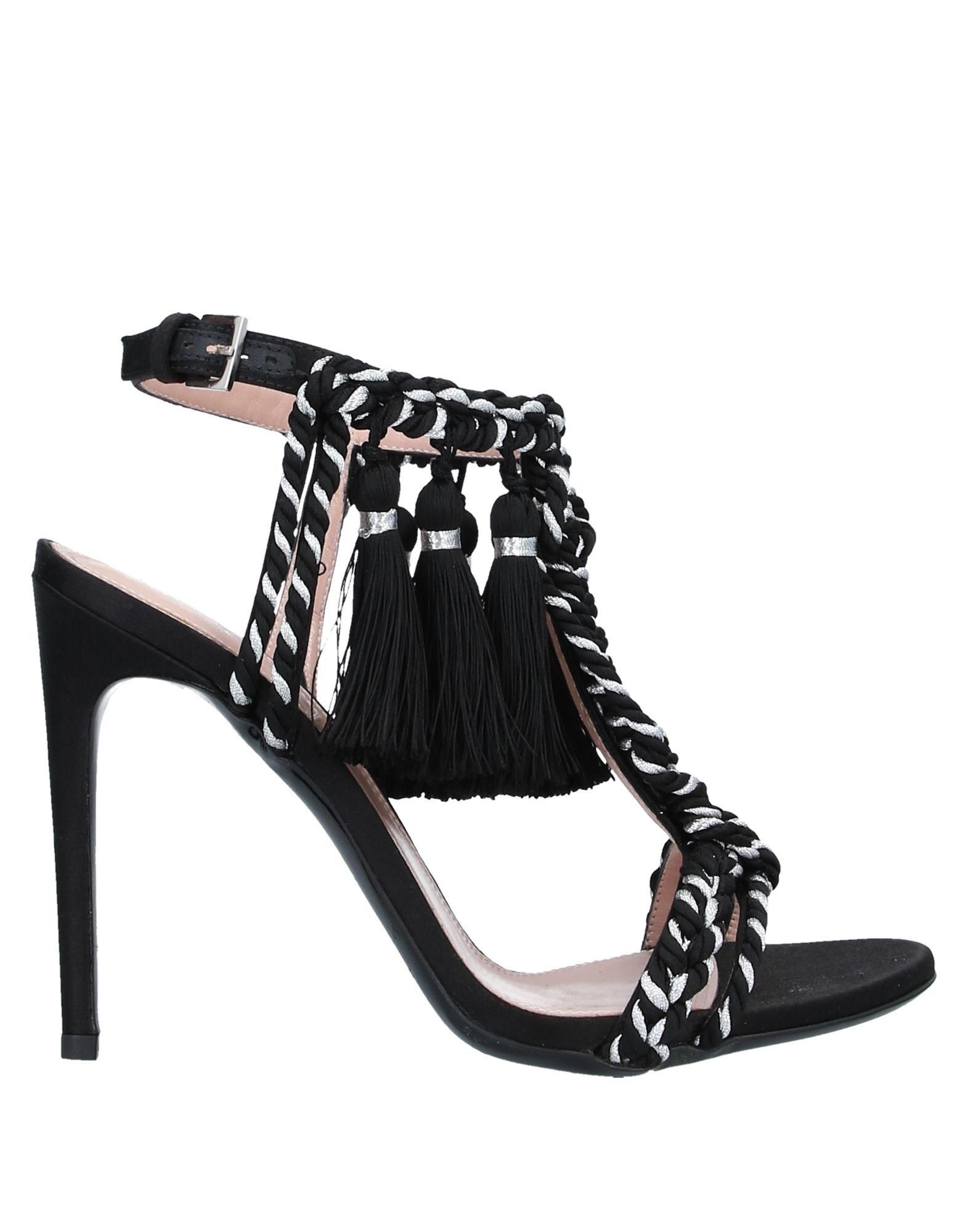 《セール開催中》ALBERTA FERRETTI レディース サンダル ブラック 36 紡績繊維