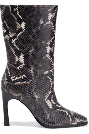 SIGERSON MORRISON Snake-effect leather boots