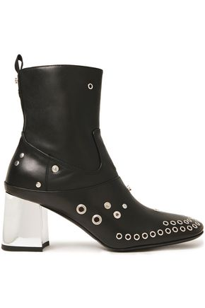 McQ Alexander McQueen Phuture embellished leather ankle boots