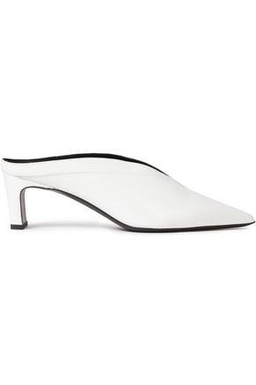 McQ Alexander McQueen Spyke patent-leather mules