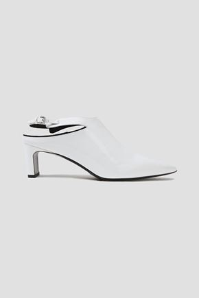 McQ Alexander McQueen Patent-leather slingback pumps