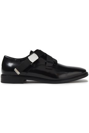 McQ Alexander McQueen Skelter glossed-leather brogues
