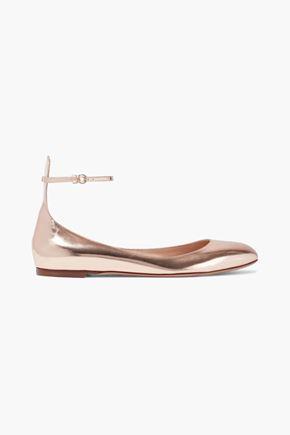 VALENTINO GARAVANI حذاء باليه من الجلد العاكس