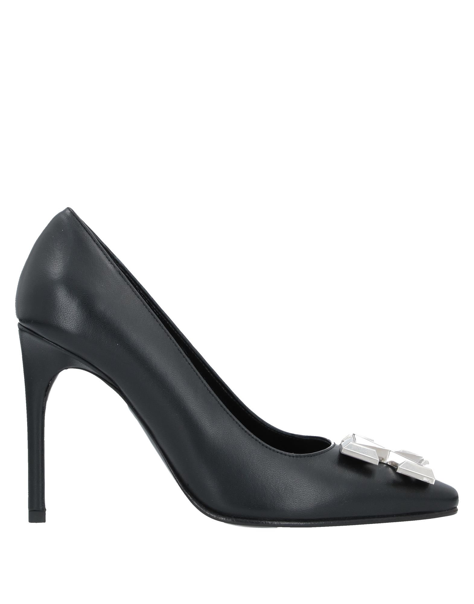 OFF-WHITE™ Pumps. leather, metal applications, solid color, round toeline, leather lining, stiletto heel, leather sole, contains non-textile parts of animal origin, small sized. Soft Leather