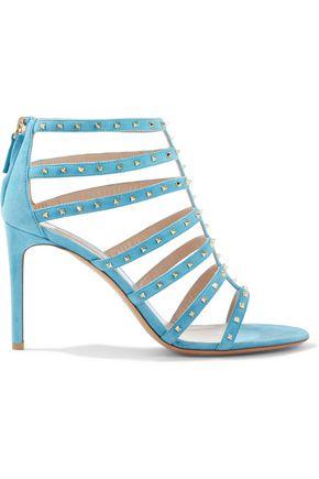 VALENTINO GARAVANI Love Stud cutout suede sandals