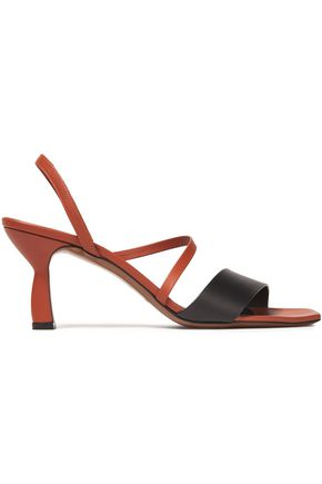 NEOUS Ecu two-tone leather slingback sandals
