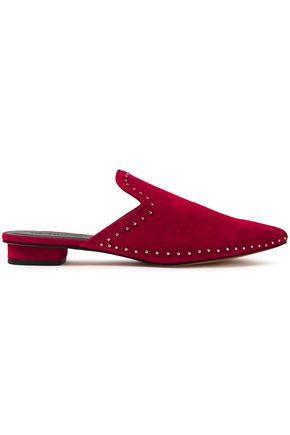 REBECCA MINKOFF Chamille studded suede slippers