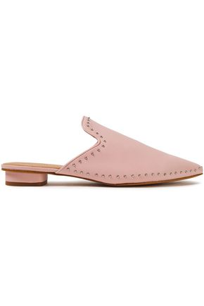 REBECCA MINKOFF Chamille studded leather slippers