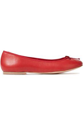FRENCH SOLE Lola bow-embellished leather flats