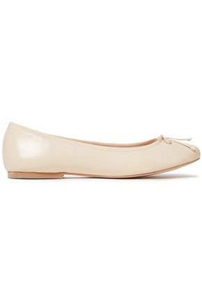 FRENCH SOLE Lola bow-embellished leather ballet flats