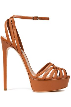 CASADEI Minorca woven leather platform sandals