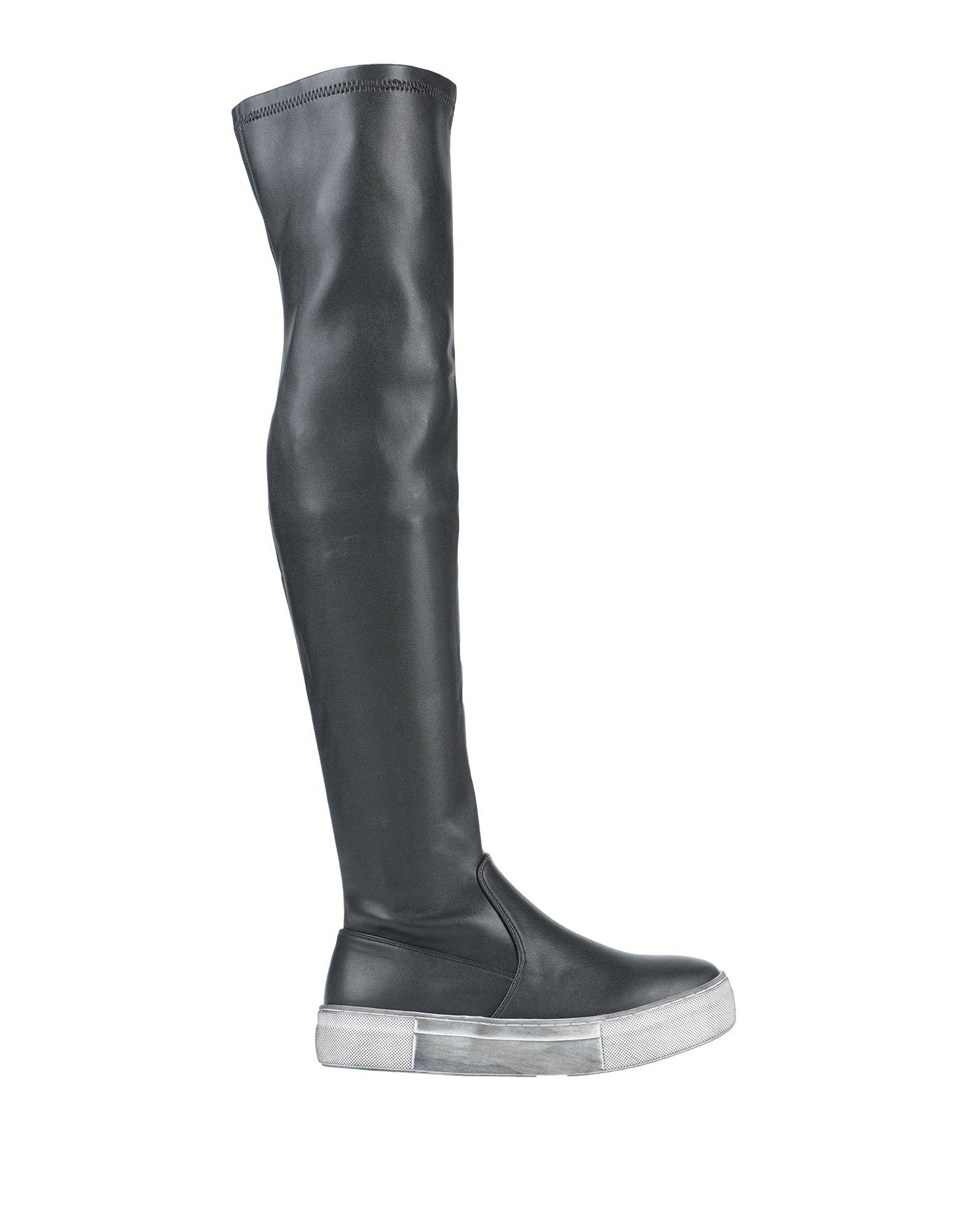 《セール開催中》SANDRO FERRONE レディース ブーツ ブラック 36 紡績繊維