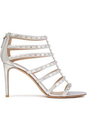 VALENTINO GARAVANI Lovestud metallic leather sandals