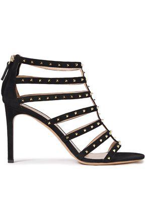 VALENTINO GARAVANI Lovestud cutout suede sandals