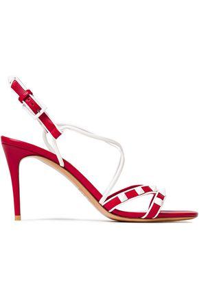VALENTINO GARAVANI Free Rockstud two-tone leather sandals