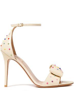 VALENTINO GARAVANI Rockstud bow-embellished sandals