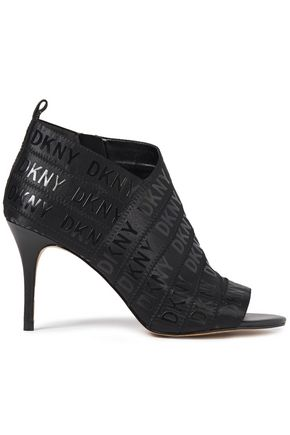 DKNY Printed stretch-knit ankle boots