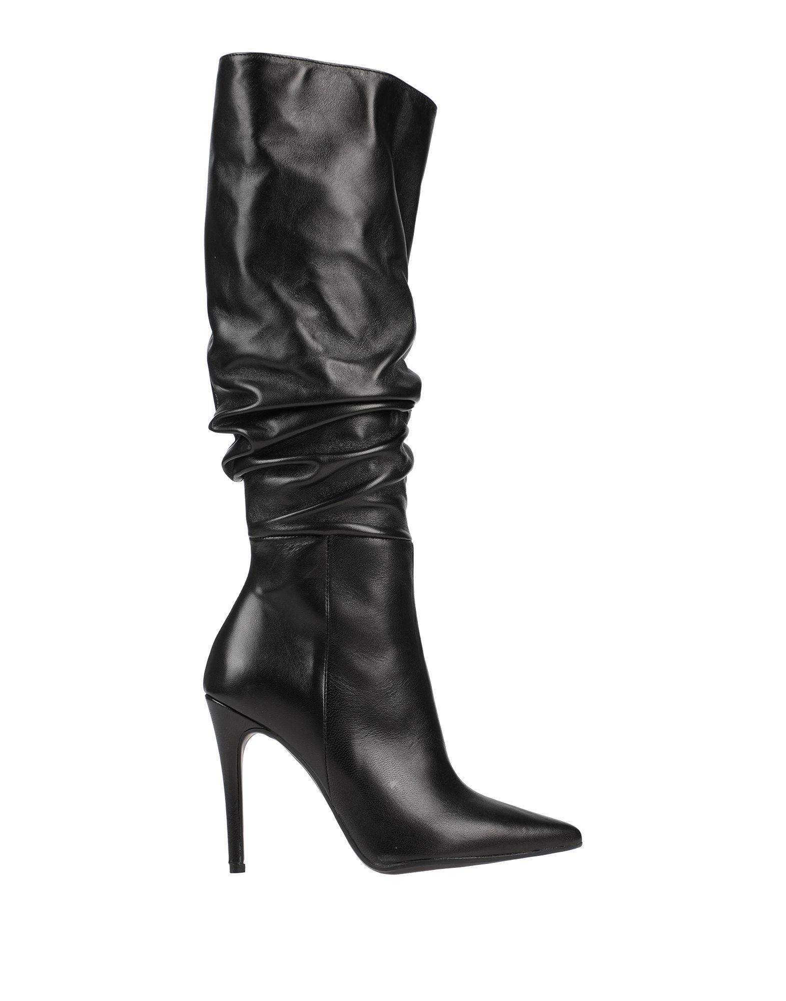 《セール開催中》DIVINE FOLLIE レディース ブーツ ブラック 37 紡績繊維