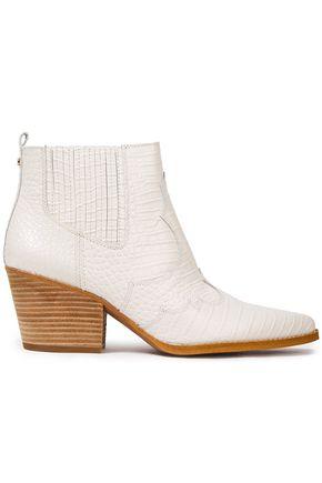 """SAM EDELMAN حذاء بوت إلى الكاحل """"وينونا"""" من الجلد بنمط التمساح"""