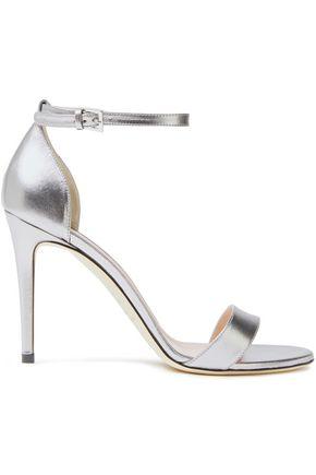 ALBERTA FERRETTI Metallic leather sandals
